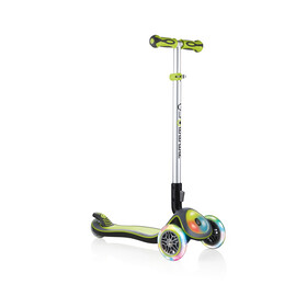 Globber Elite Prime Roller mit Batterielosen LED Blink-Rollen Kinder green